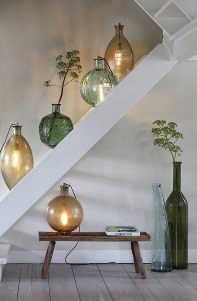 Tischleuchte Possando für Vasen Antik gold