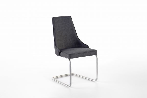 Stuhl-System Elara B 2er Set in drei Fuß-Formen Feingewebe grau