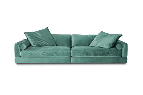 XXL 3- Sitzer Sofa Luna Bezug Samt türkis