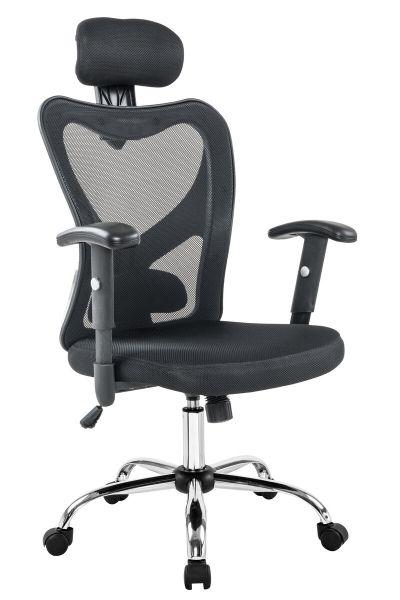 Bürosessel Schreibtischstuhl Tres schwarz chrom