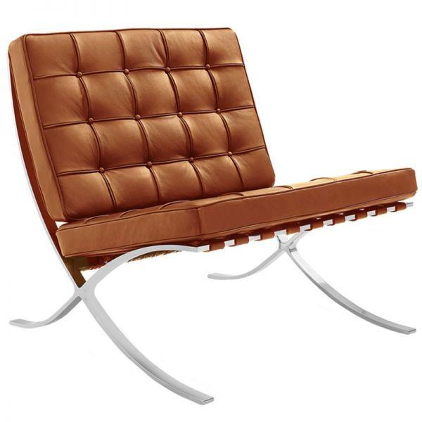 Sessel in Bauhaus Stil Leder cognac
