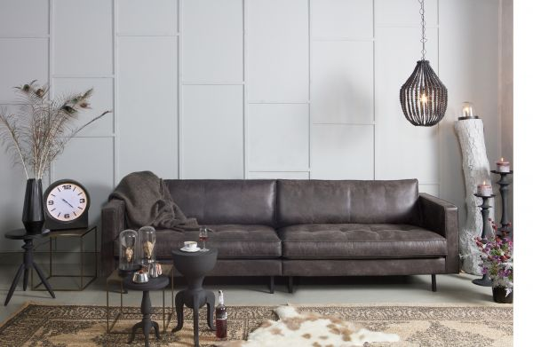 Sofa Rodeo Classic Bezug Eco Leder schwarz