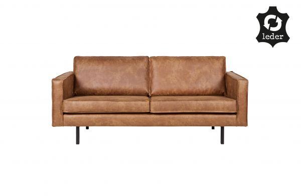 Sofa Rodeo 2,5 oder 3 Sitzer Bezug Eco Leder cognac