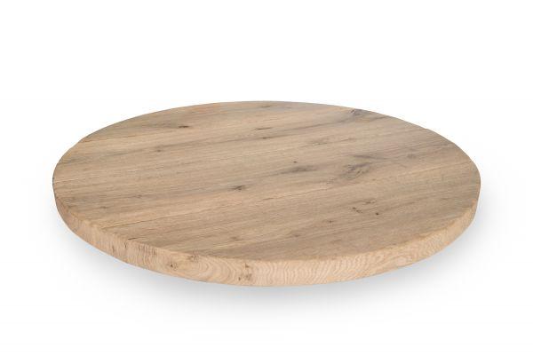 Tischplatte Old Style Rund Wildeiche gebürstet