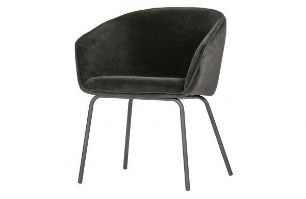 Stuhl Sien 2er Set Velvet schwarz