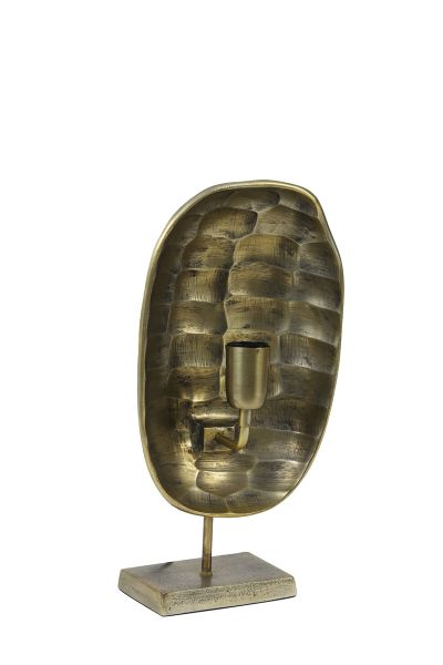 Tischleuchte Maku Metall Altgold