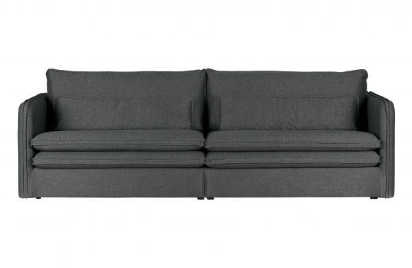 3-Sitzer Sofa Matthijs mit doppelt kissen dunkel grau