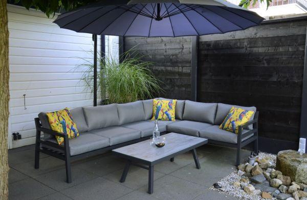 Outdoor Eck-Lounge Bilbao Aluminium anthrazit