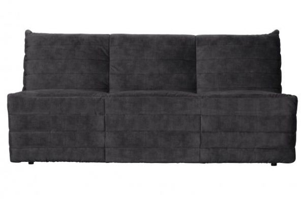 Lounge-Sofa Bag Bezug Samt anthrazit
