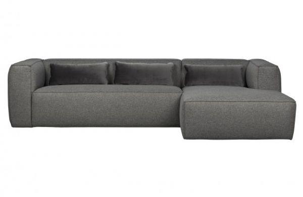 Ecksofa 3-Sitzer Bean Stoff grau Sofa