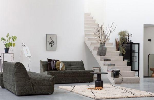 Lounge-Sofa Bag Bezug Samt grün