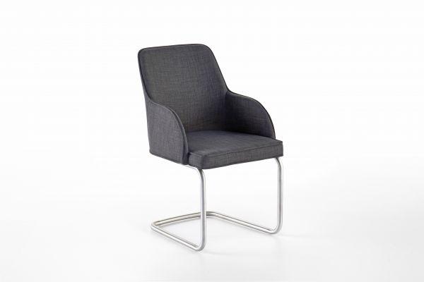 Stuhl-System Elara A 2er Set in drei Fuß-Formen Feingewebe grau