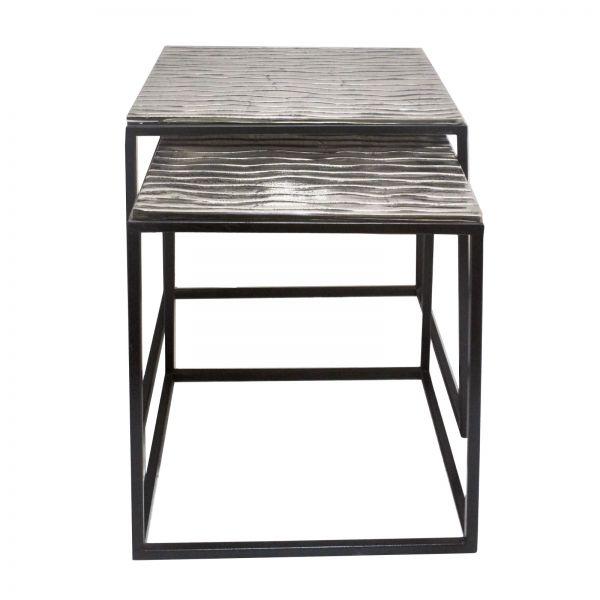 Beistelltisch Tiffany Aluminium silber