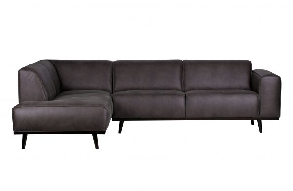 Ecksofa Statement Eco Leder grau