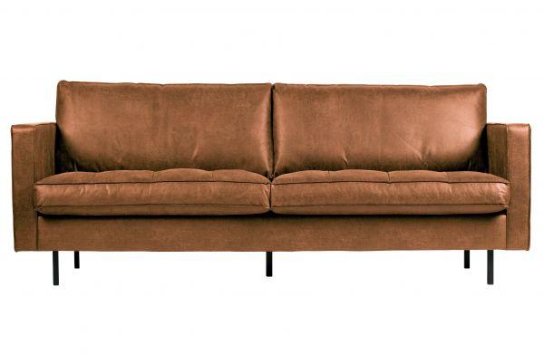 3-Sitzer Sofa Rodeo Classic Bezug Eco Leder cognac