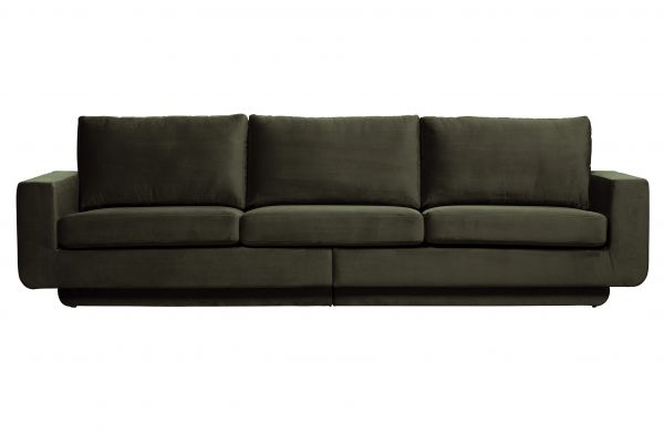 3-Sitzer Sofa Fame Bezug Velvet dunkelgrün
