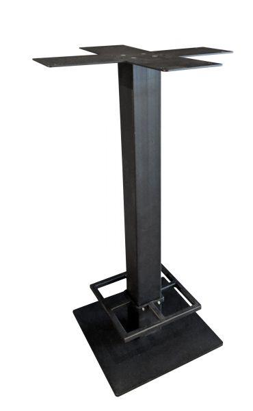 Stehtisch Single mit Fußtritt Stahl schwarz