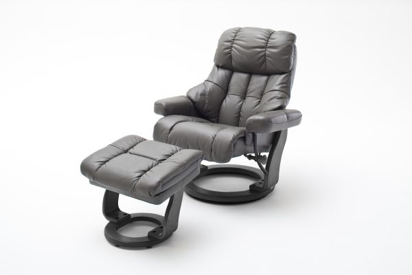 Relaxsessel CALGARY Relaxer inkl Hocker Leder Schlamm