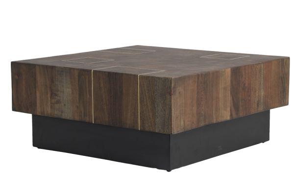 Couchtisch Macuma Holz schwarz
