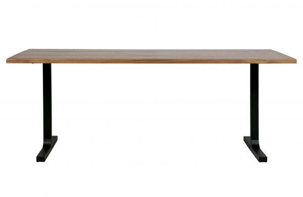 Esstisch Jimmy Platte Nussbaum Furniert Beine Metall