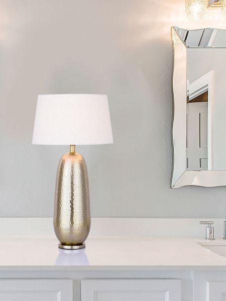 Tischlampe Lori Sockel gold hoch