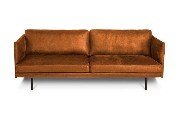 Design Sofa Slim Bezug Microfaser braun