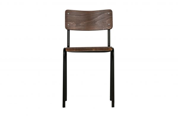 Stuhl Kees 2er Set Sitz ud Rücken Holz Beine schwarz