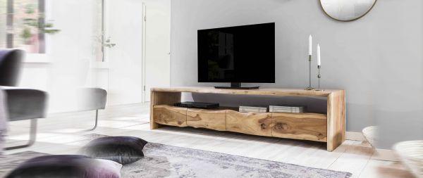 TV Lowboard Albera Baumkannte Akazie Massiv