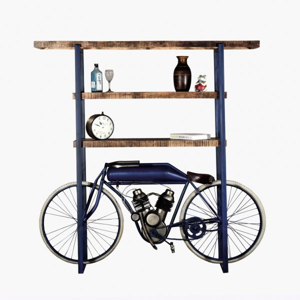 Motor-Bike-Bar Unikat Vintage Stand By Me blau