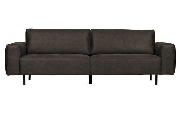 3-Sitzer Rebound Sofa Bezug Microfaser antrazit Beine