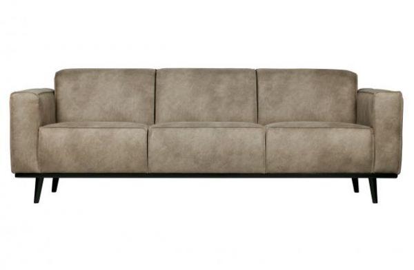 3-Sitzer Sofa Statement elephant grau Beine schwarz