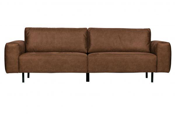 3-Sitzer Sofa 373805-B Bezug Microfaser cognac