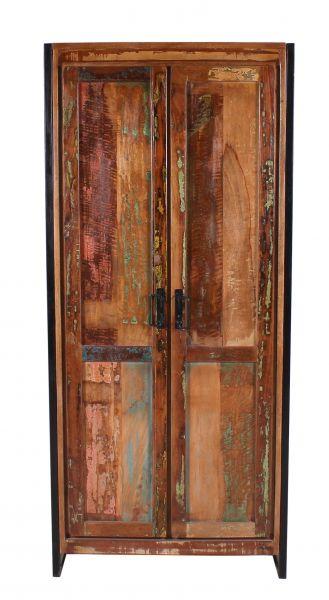 Hochschrank Bali Holz Vintage bunt