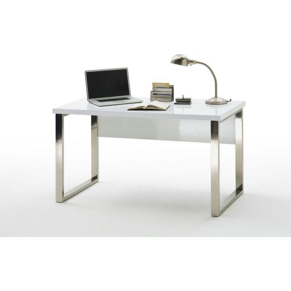 Schreibtisch New York OFFICE weiß Hochglanz lackiert