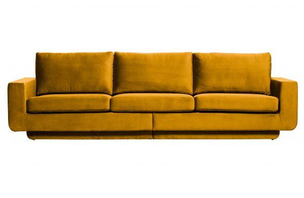 3-Sitzer Sofa Fame Bezug Velvet Ochre