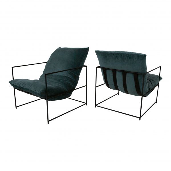 Design Lounge Sessel Indi Bezug grün