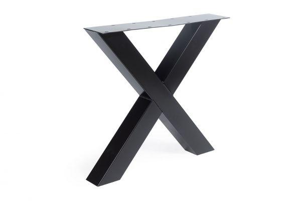 Tischgestell X Regular 2er Set aus Stahl in 4 Farben