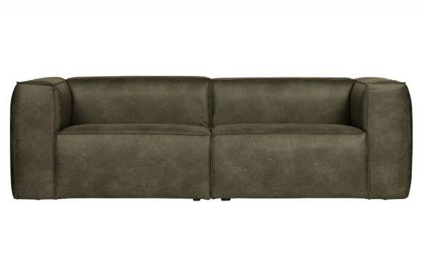 Sofa 3-Sitzer Bean Bezug Eco Leder Army grün