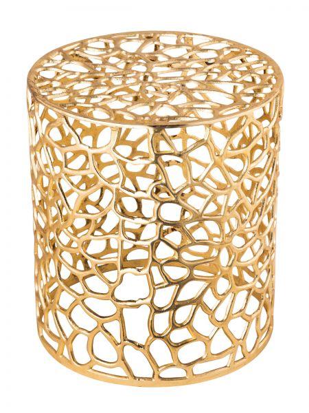 Beistelltisch Agadir Aluminium gold