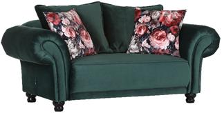 2-Sitzer Sofa Vivero Bezug Samt grün