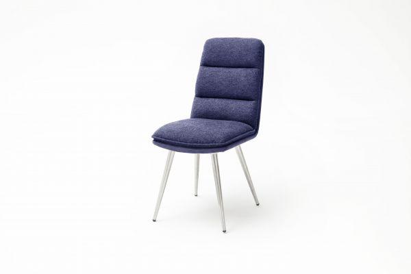 Stuhl Fida Bezug Stoff in 5 Farben Rundrohr, konisch, Edelstahl gebürstet