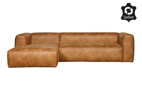 Ecksofa 3-Sitzer Bean Bezug Eco Leder cognac