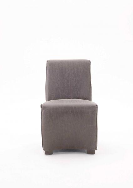 Polsterstuhl Sit (2er Set) Bezug Leder grau
