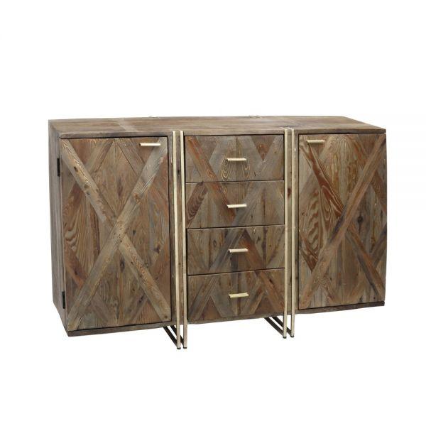 Sideboard Roan Mango Holz Metall gold