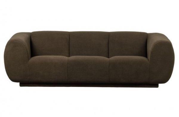 3-Sitzer Sofa Woolly Bezug Stoff grün