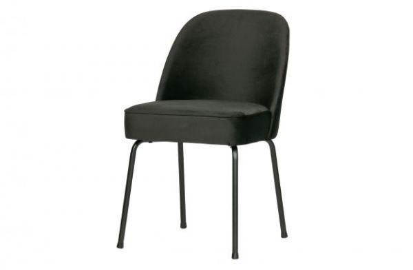 Stuhl Vogue 2er Set Bezug Samt schwarz