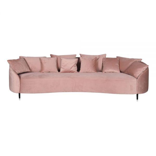 Sofa Rumba Bezug Samt Rose