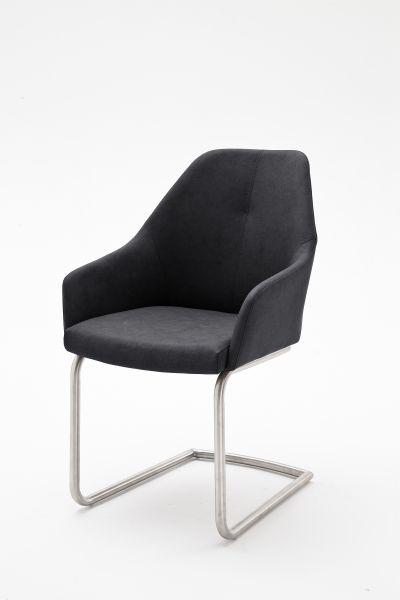 Stuhl Matita II 2er Set in drei Farben Gestell Edelstahl gebürstet