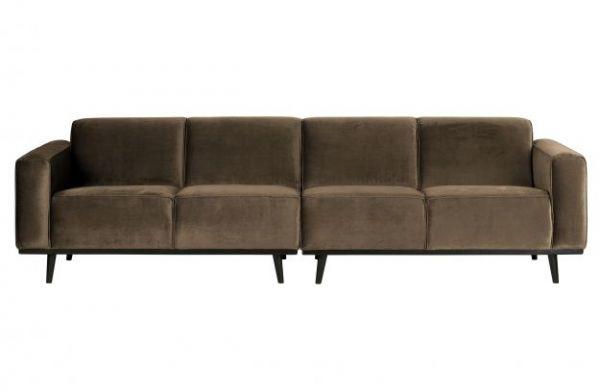 XL Sofa 4 Sitzer Statement Lounge Bezug Velvet taupe