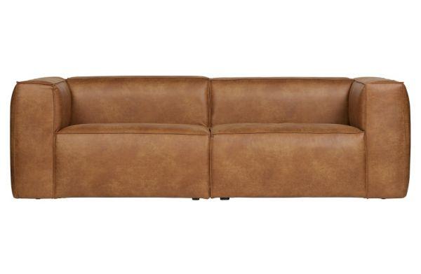 3-Sitzer Sofa Bean Bezug Eco Leder cognac